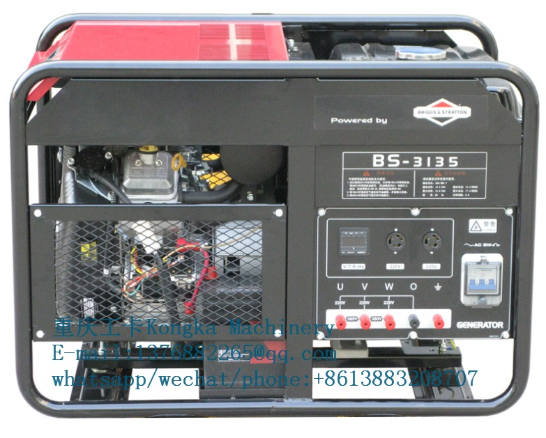 10kw 12KVA Briggs and Stratton portable gasoline generator machine