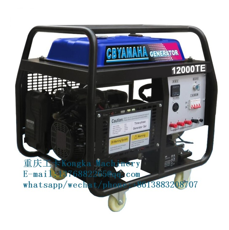 9kw 11kva soundproof petrol emergency backup power generator for factory use